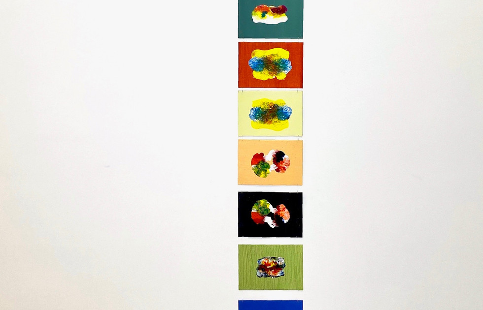 Symmetry Monoprints - Liisa Nel