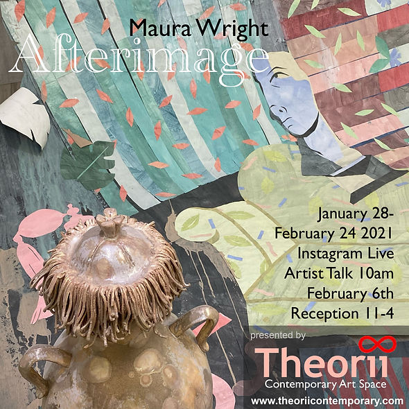 MAURA WRIGHT - 'Afterimage' Exhibition Poster