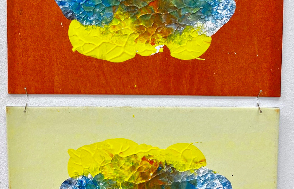Symmetry Monoprints orange_yellow - Liisa Nel