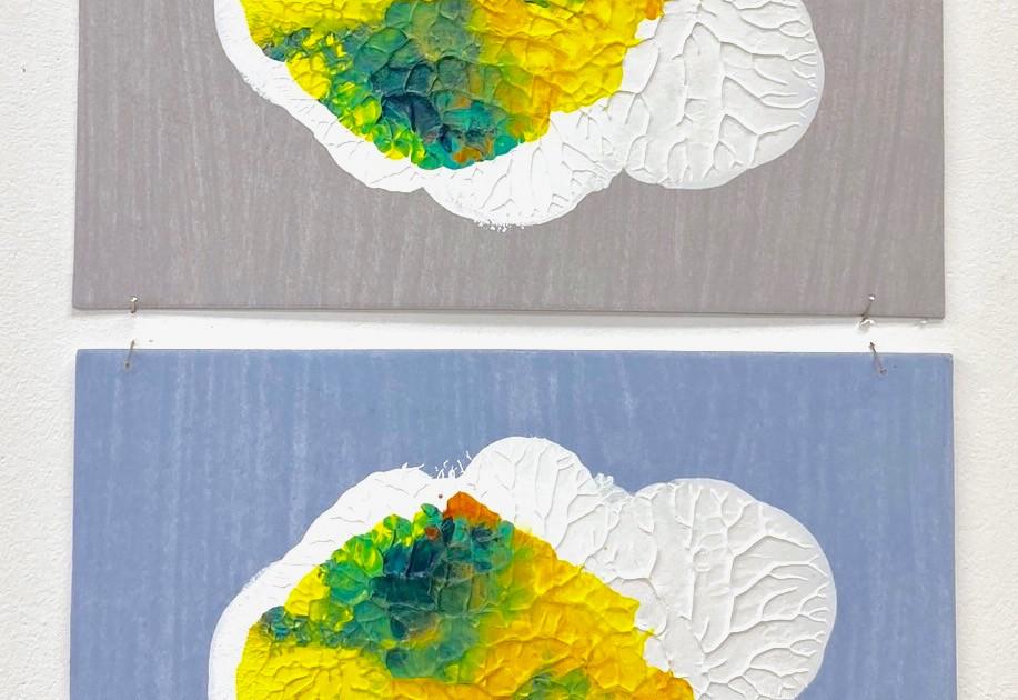 Symmetry Monoprints gray_blue - Liisa Nel