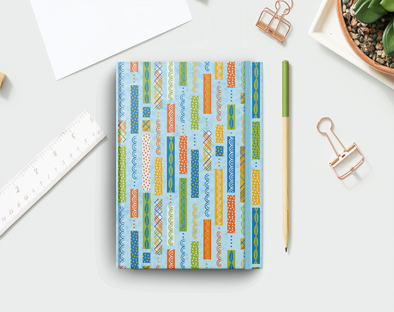 Washi Stripes Journal