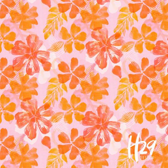 Juicy Orange Tropical Floral