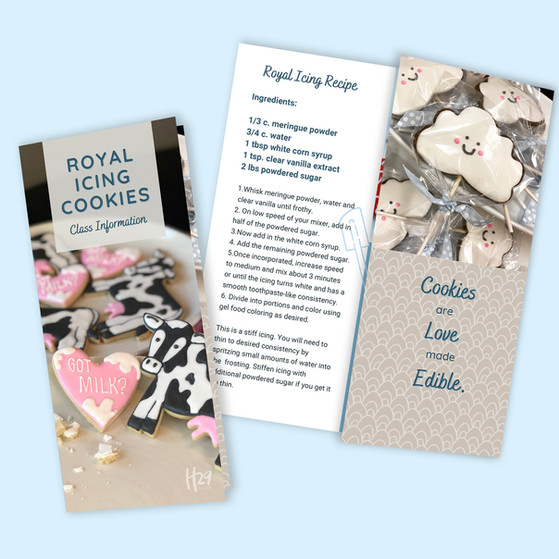 Cookie Class Brochure