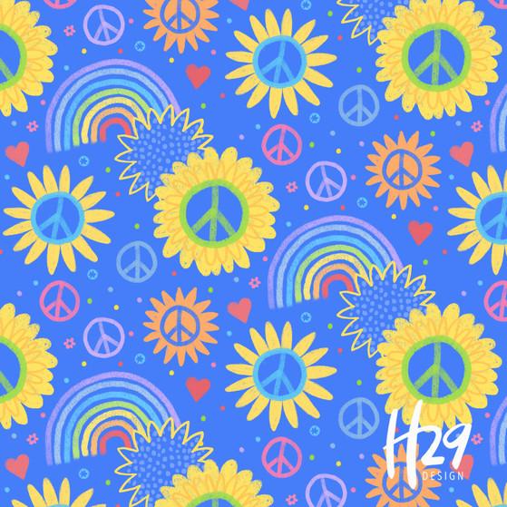 Peaceful Sunflower Blue