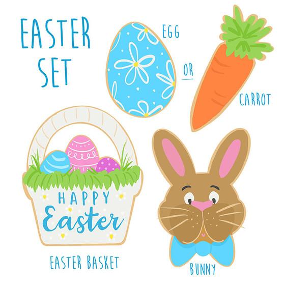 Easter cookie concept development