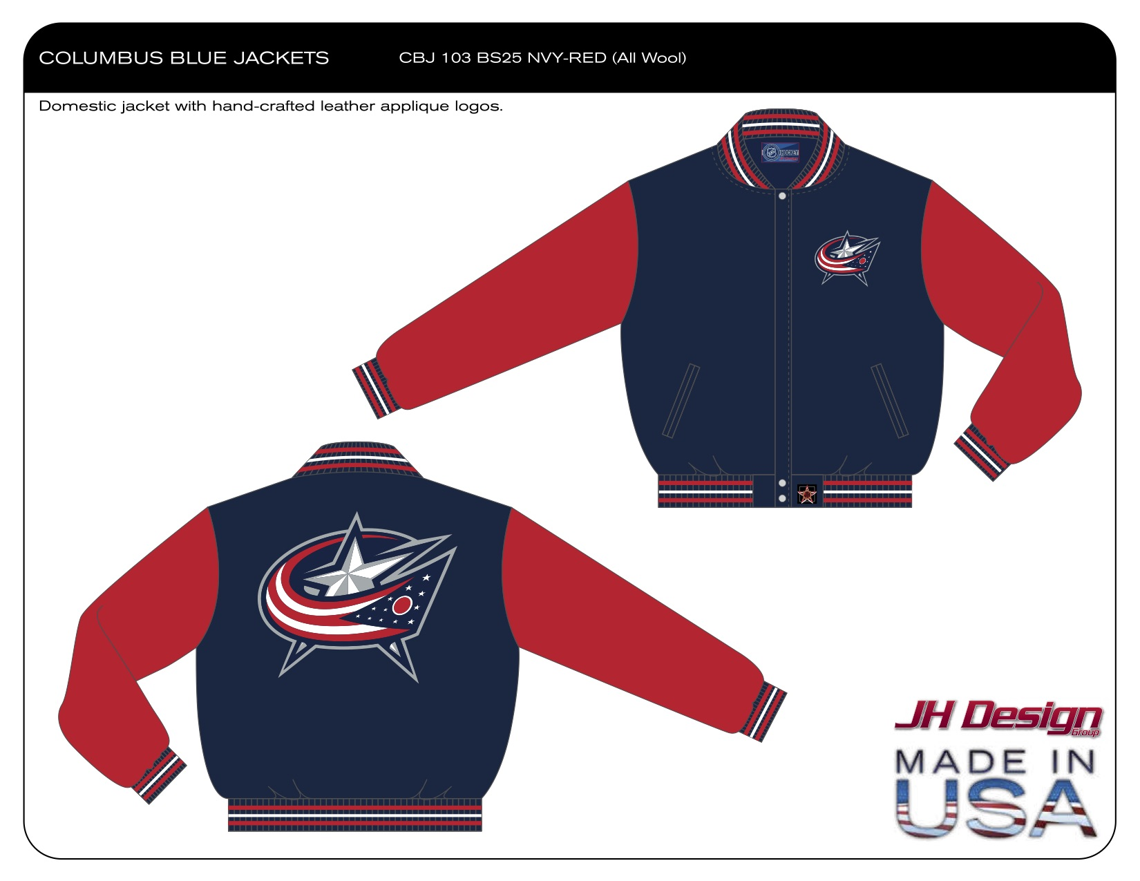 CBJ 103 BS25 NVY-RED