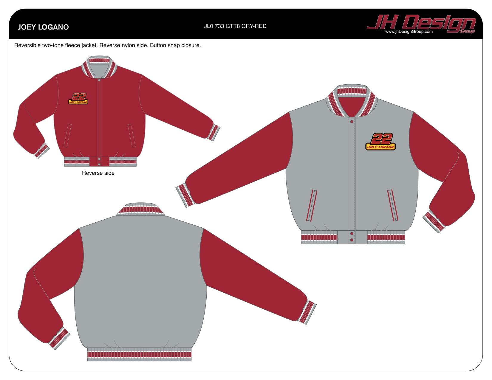 JL0 733 GTT8 GRY-RED