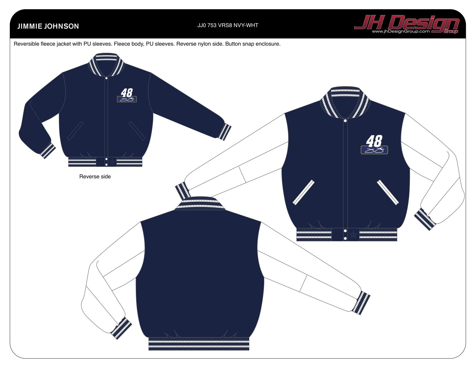 JJ0 753 VRS8 NVY-WHT