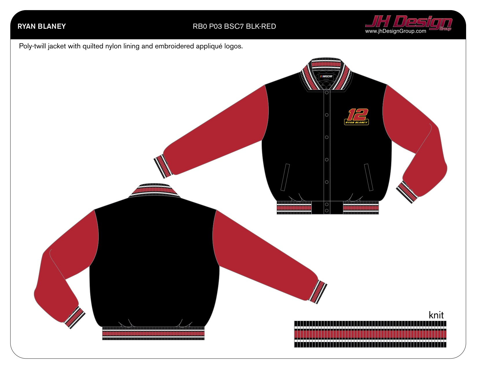 RB0 P03 BSC7 BLK-RED