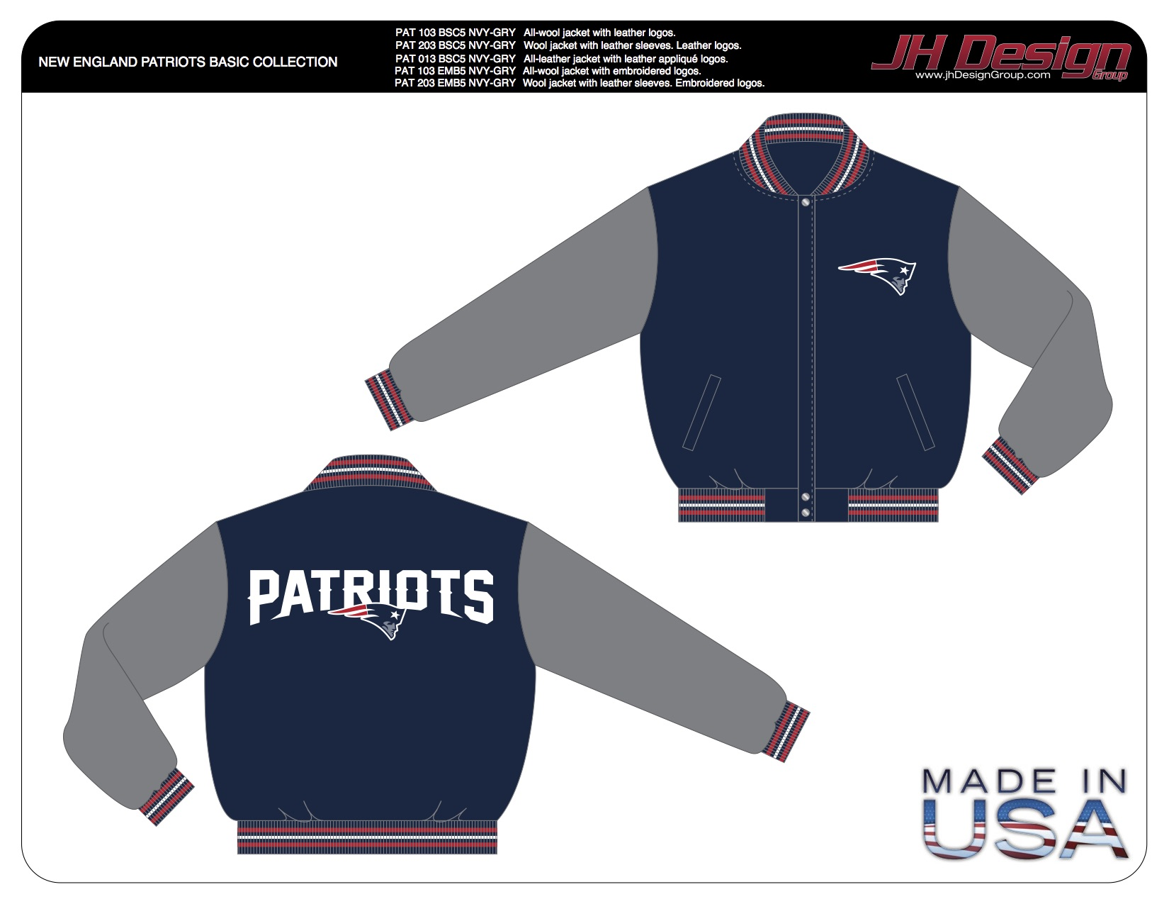 PAT 103 BSC5 NVY-GRY