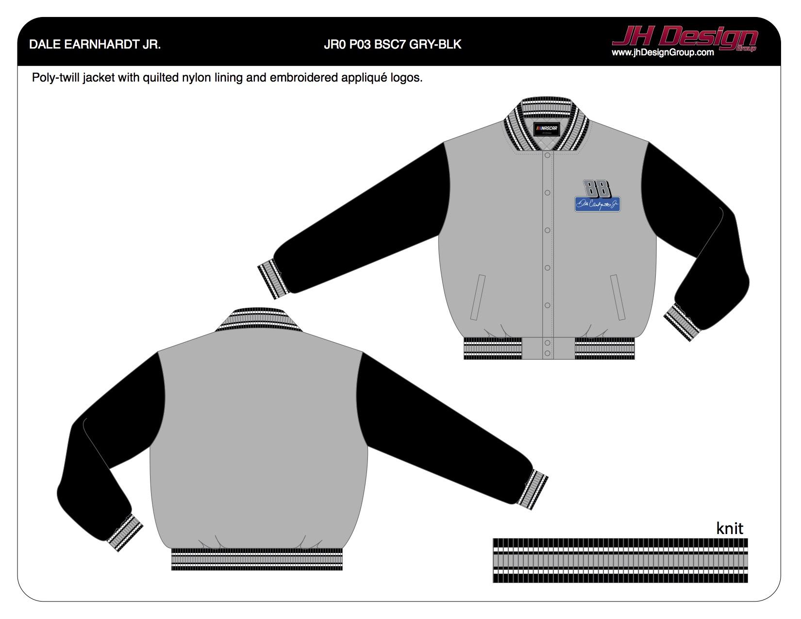 JR0 P03 BSC7 GRY-BLK