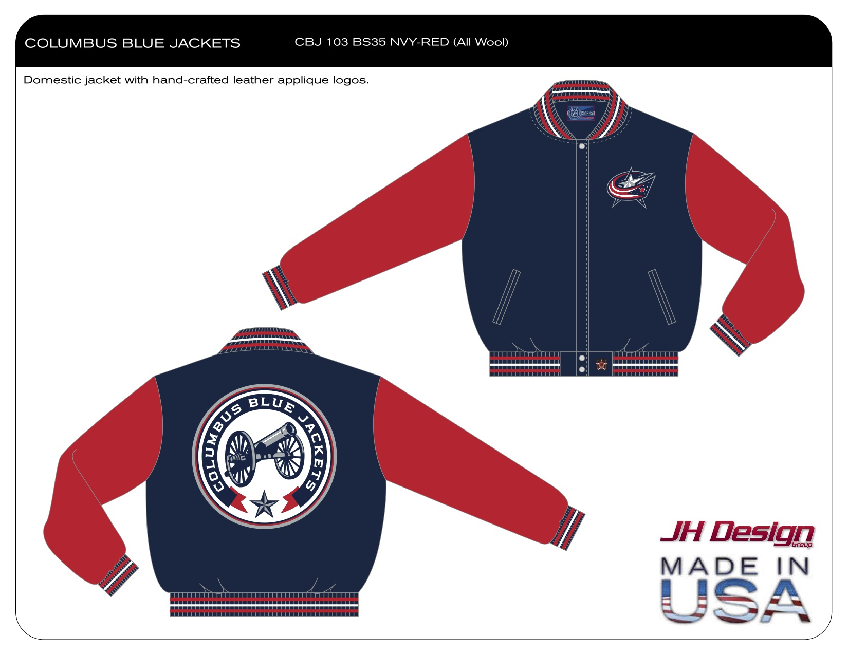 CBJ 103 BS35 NVY-RED