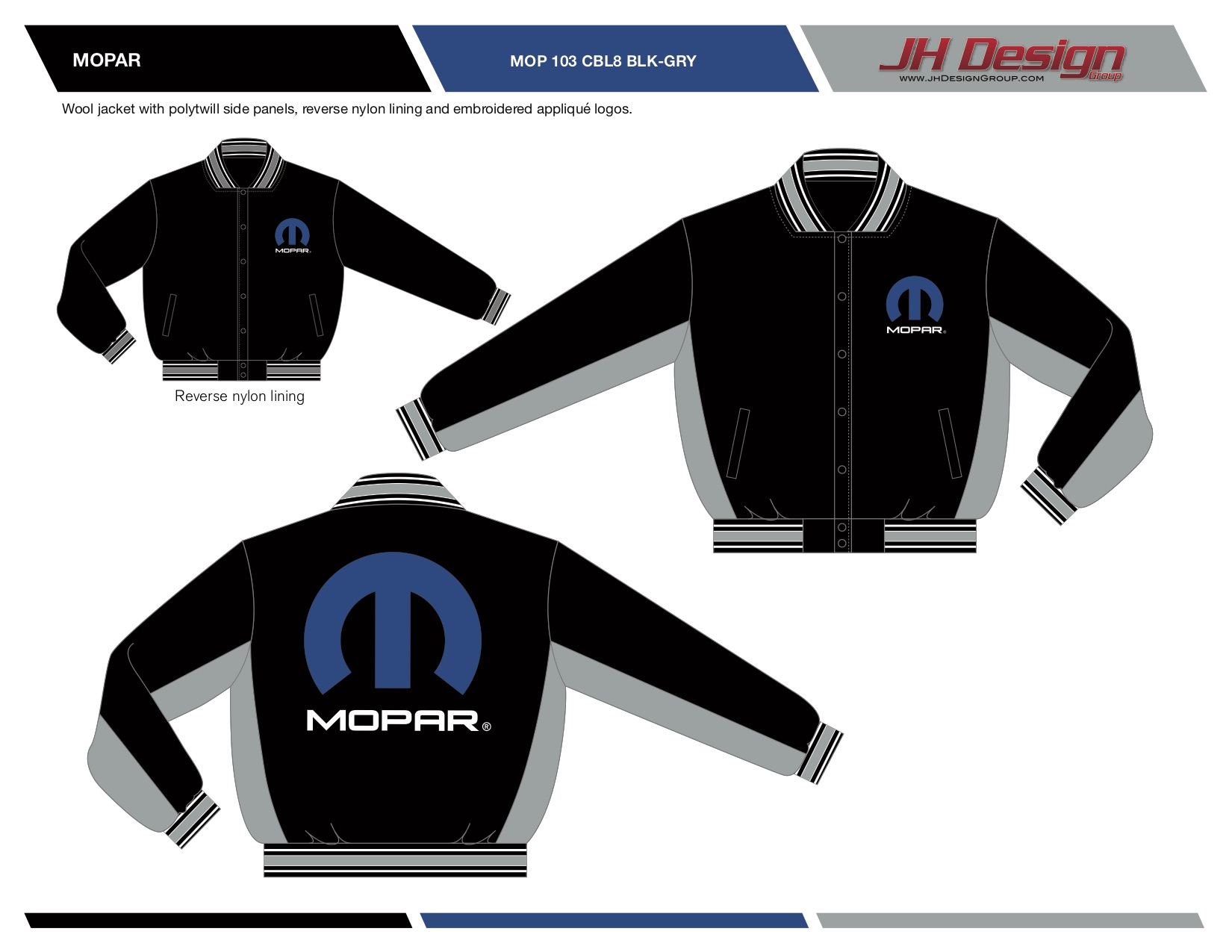 MOP 103 CBL8 BLK-GRY