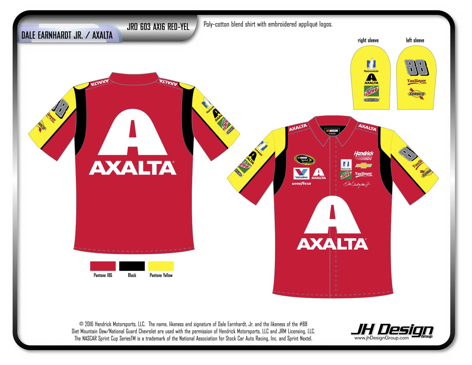 JR0 603 AX16 RED-YEL