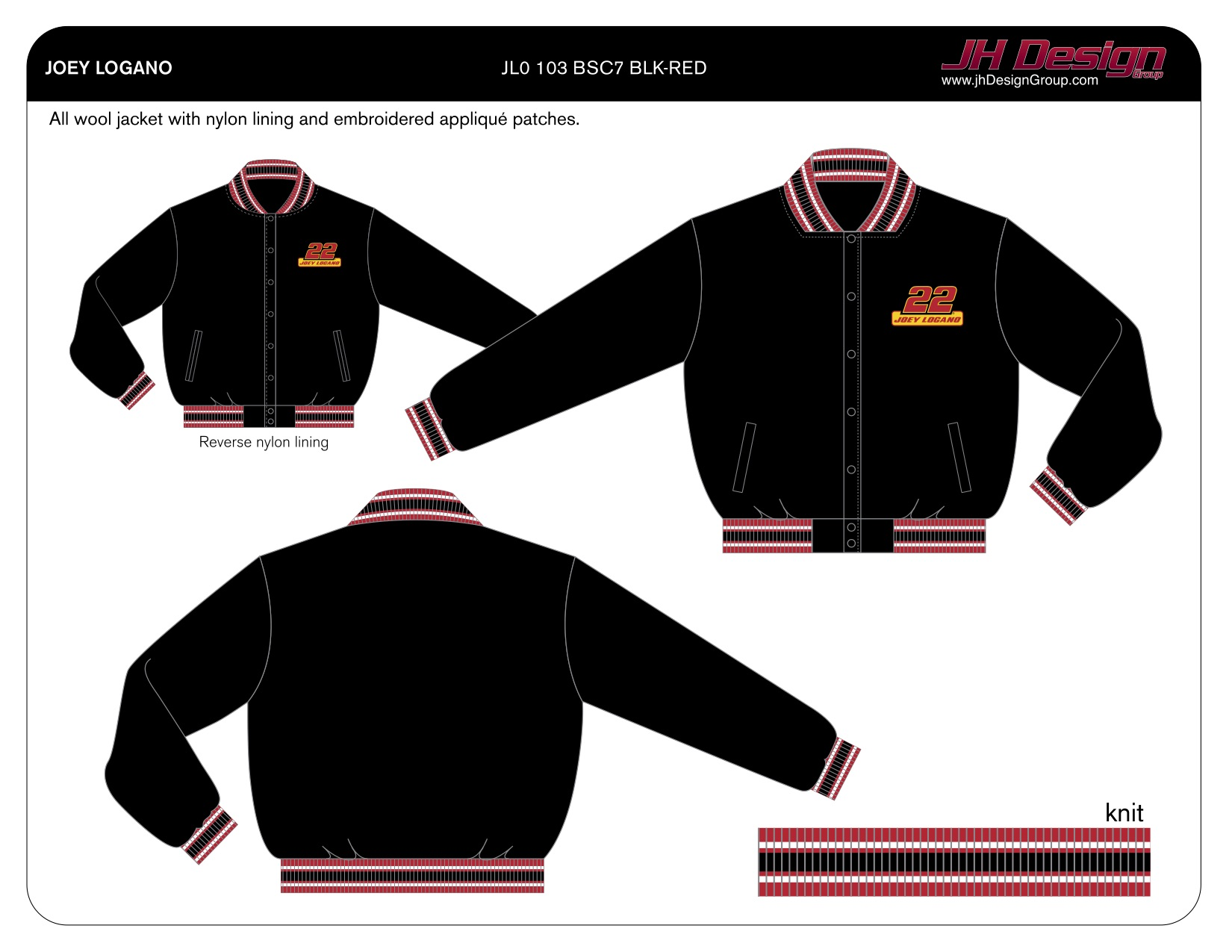 JL0 103 BSC7 BLK-RED