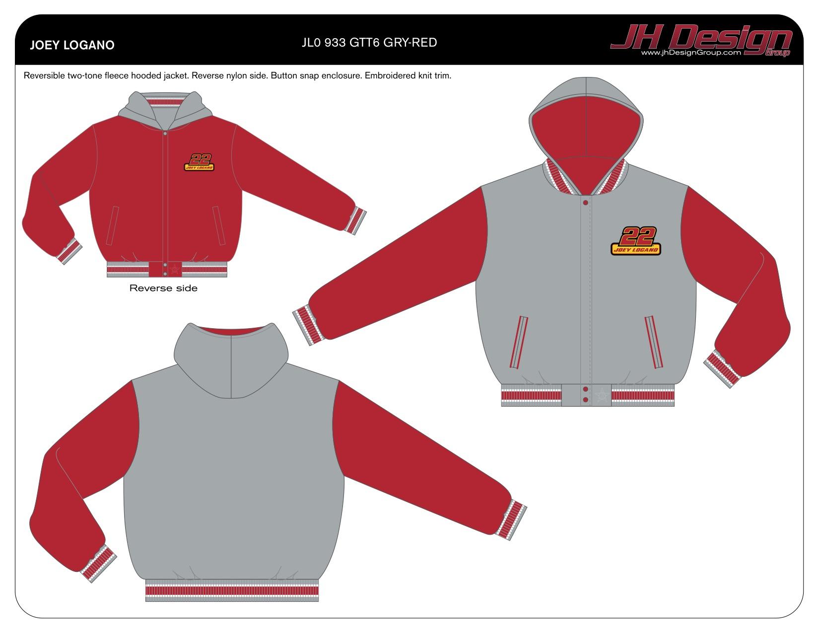 JL0 933 GTT6 GRY-RED