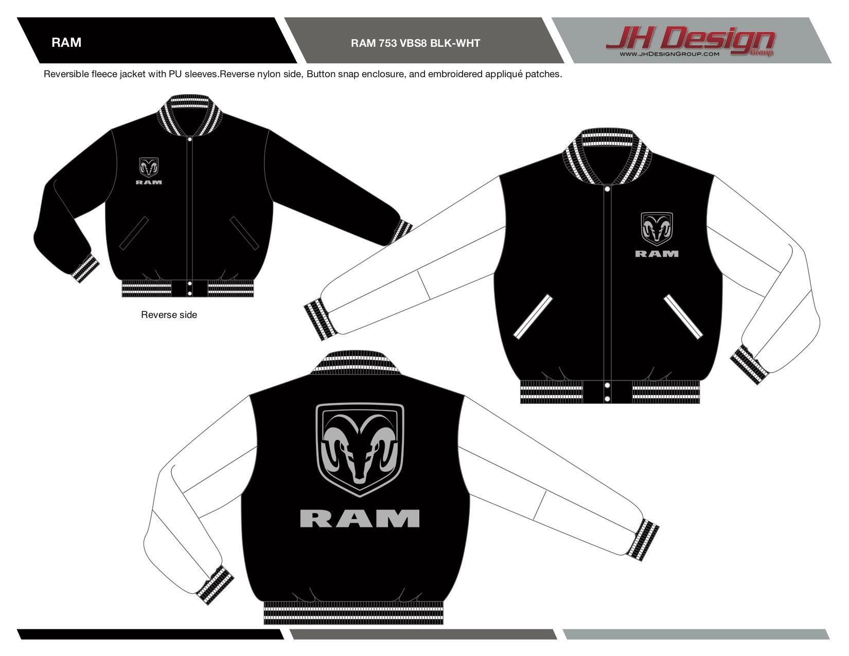 RAM 753 VBS8 BLK-WHT