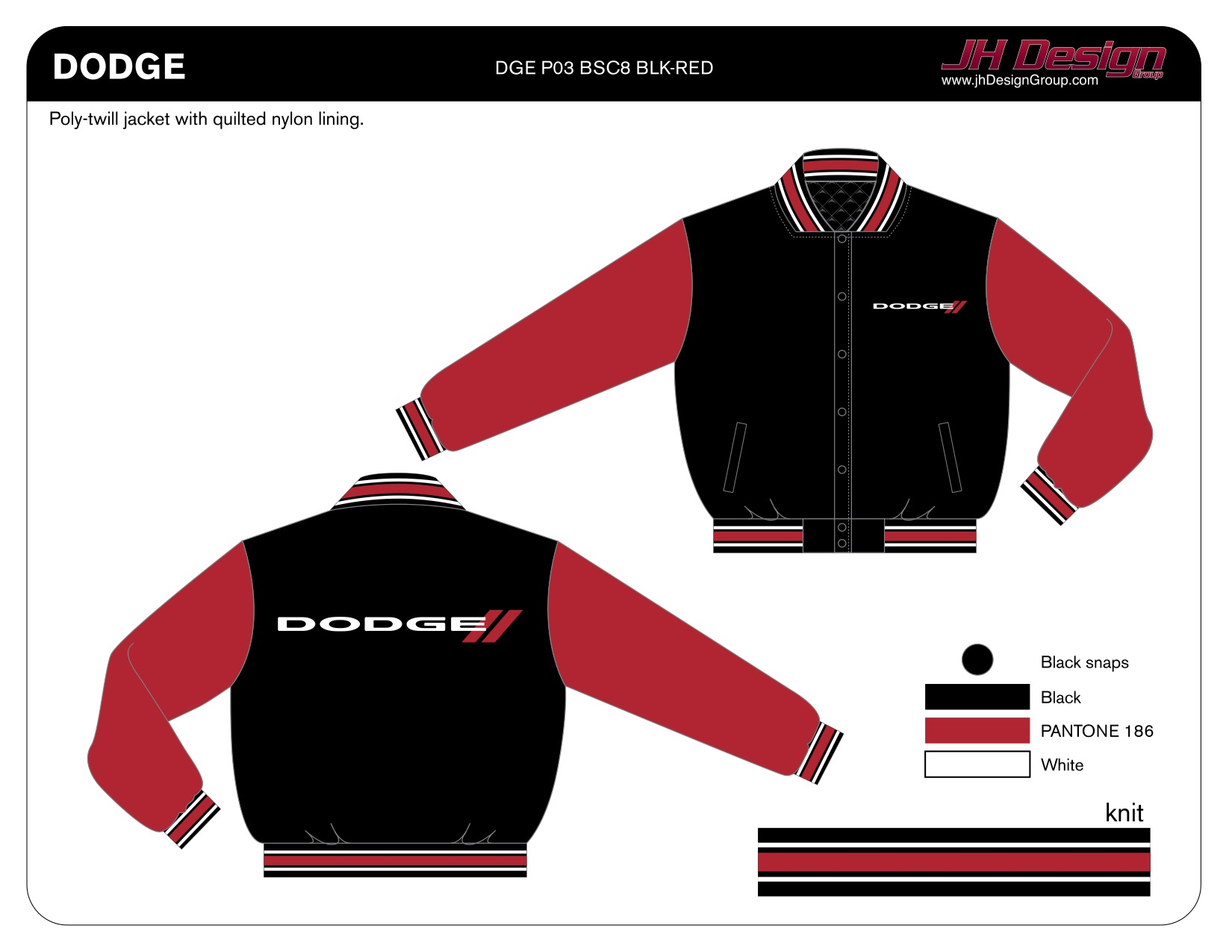DGE P03 BSC8 BLK-RED