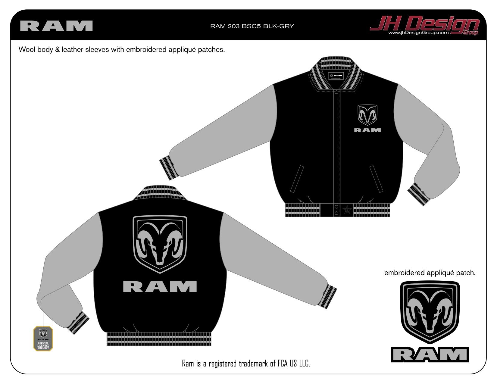 RAM 203 BSC5 BLK-GRY