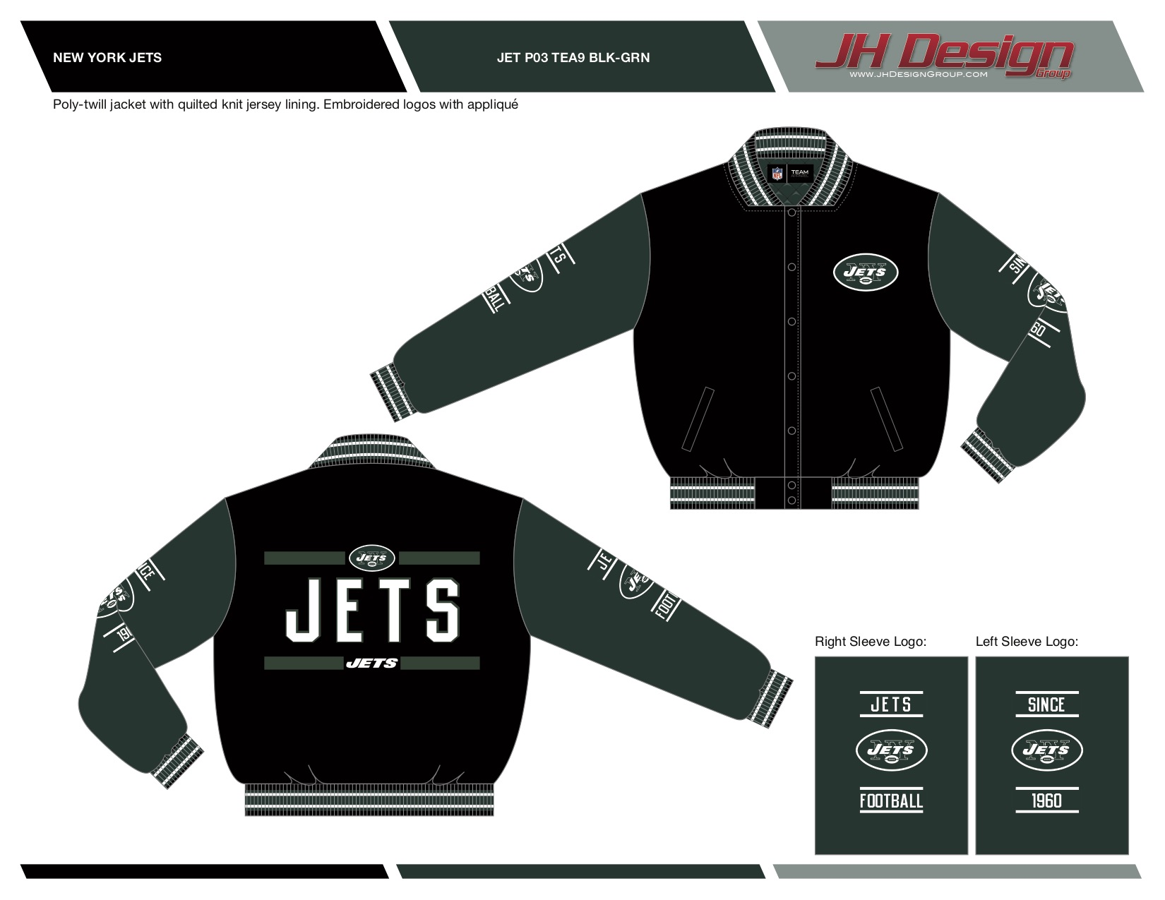 JET P03 TEA9 BLK-GRN