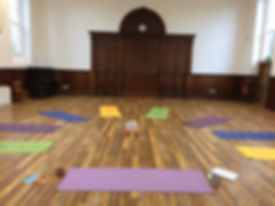 Ready for Yogalulus class at the Hubnub Centre