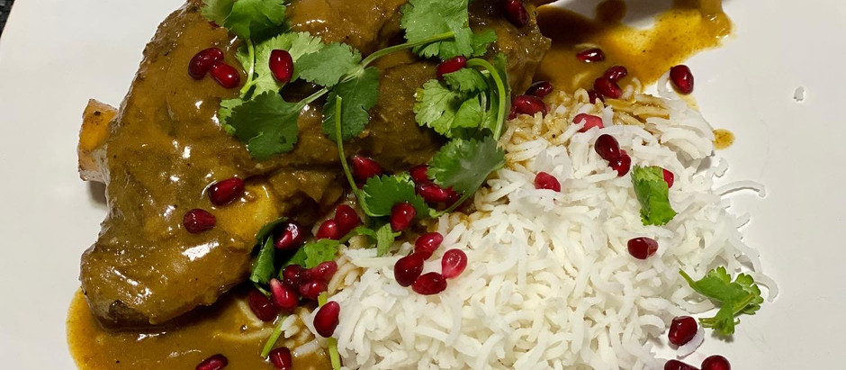 Indian Lamb Shanks with Pomegranate