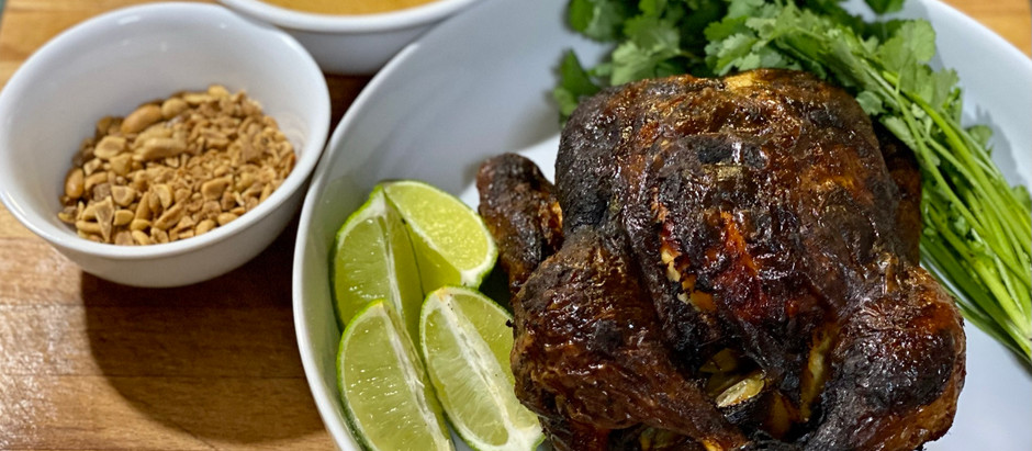 Red Curry Roast Chicken with Coconut Sauce