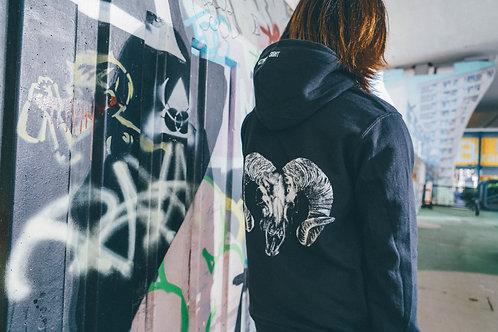 Instinct of Sight 『Goat Skull』Hoodie (black)