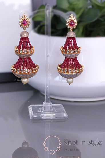 """AMALFI"" Kundan oversize earrings"
