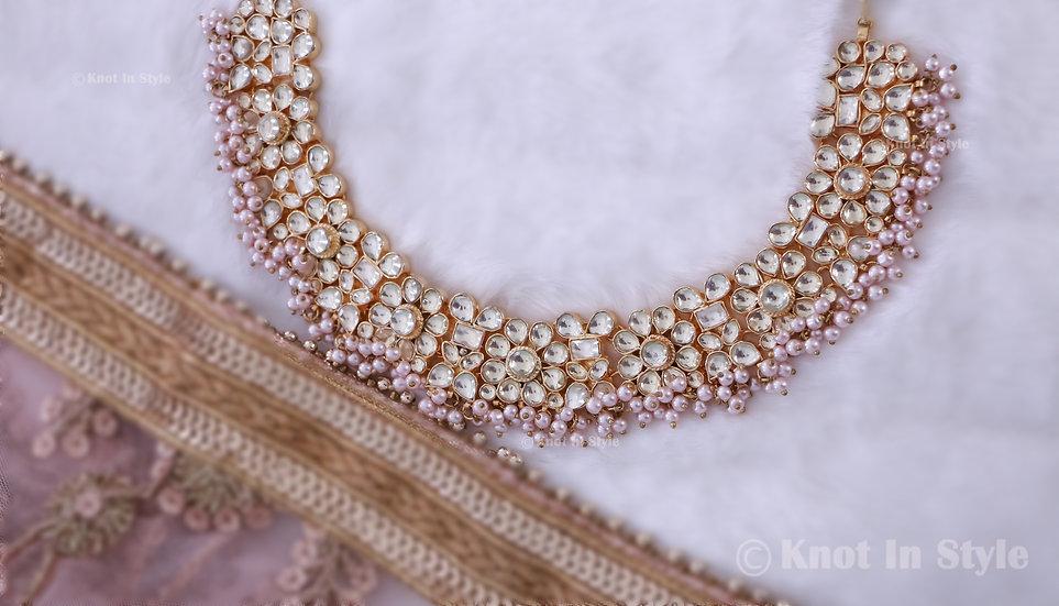 """MADRID"" High quality pachi kundan necklace set"