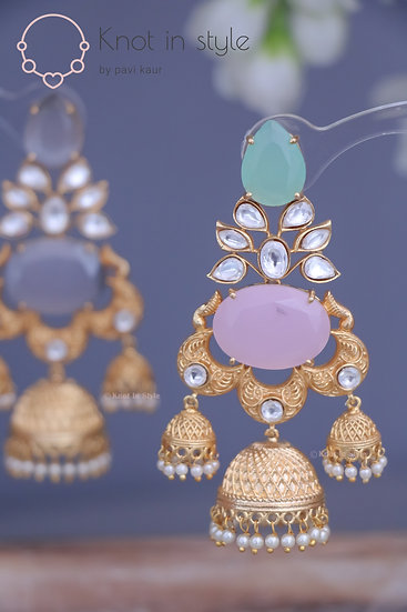 """QUEENSLAND"" Earrings set (no tikka)"