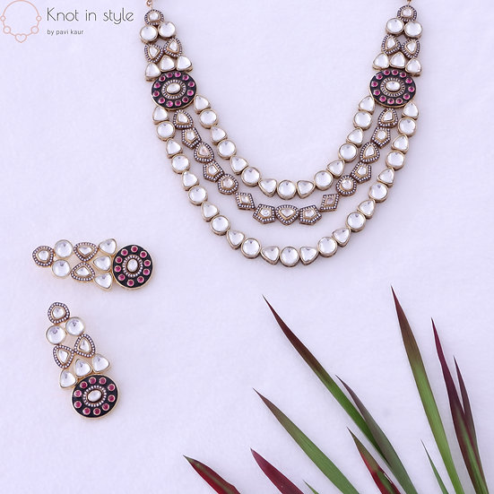"""ZION"" Kundan necklace set"