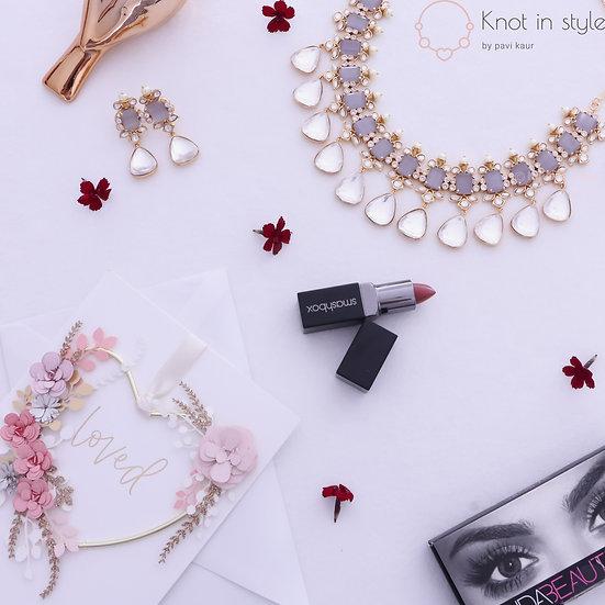 """SYROS"" Kundan necklace set"