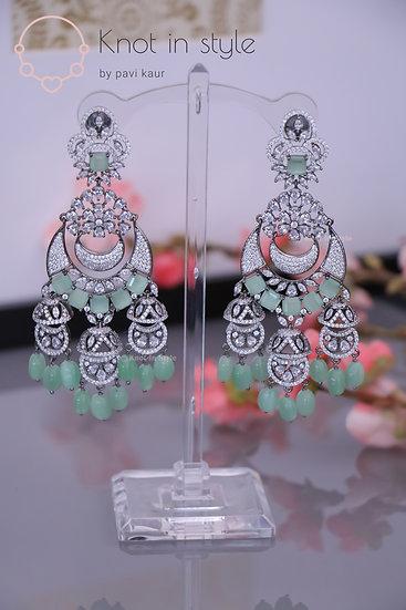 """TULUM"" Silver oversize earrings"
