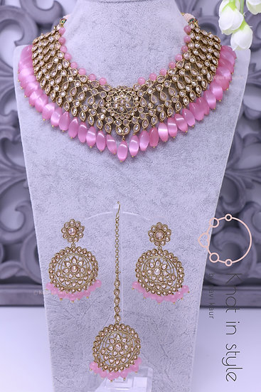 """FLORENCE"" Polki necklace set"