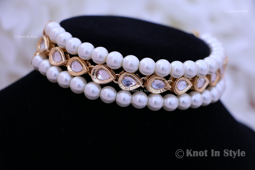 Kundan single line choker