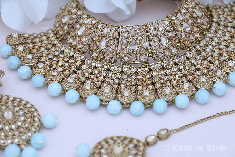 Polki necklace set (bridal/semi-bridal)