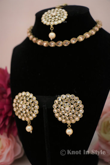 Single polki choker with/without studs