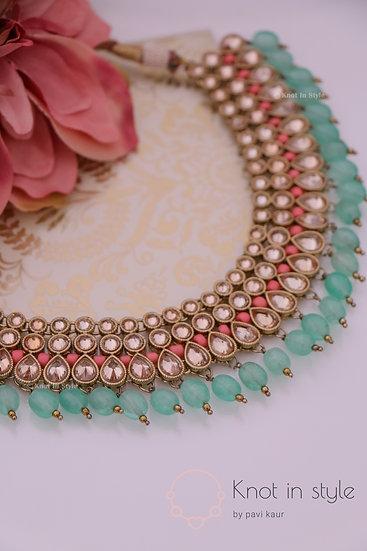 """TAJ MAHAL"" polki necklace piece"