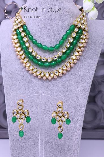 Kundan necklace set (no tikka)