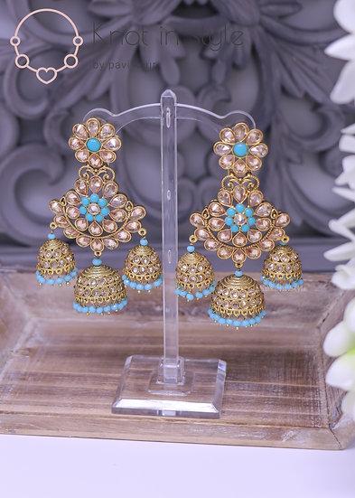 Polki chandelier earrings