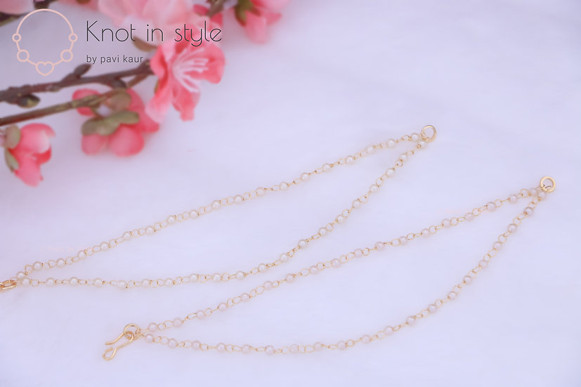 Plain double line pearl saharas