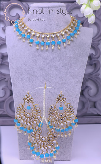 Single kundan necklace set