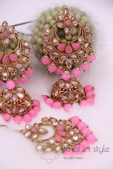 Polki Earrings/Tikka