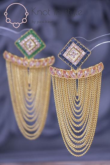 Polki earrings (no tikka)