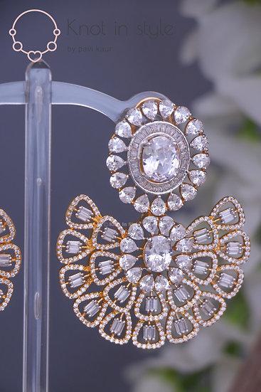 """""""GUYANA"""" Diamond cut medium size earrings"""