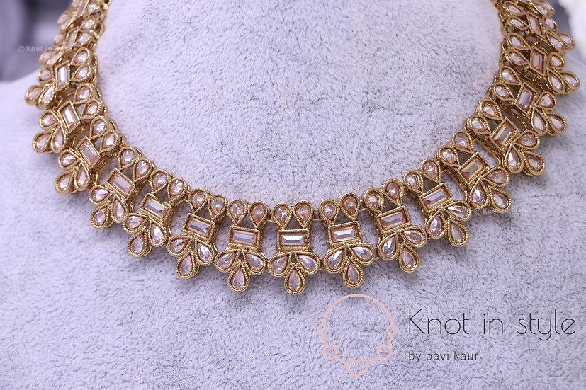 Polki necklace set (fits like choker)