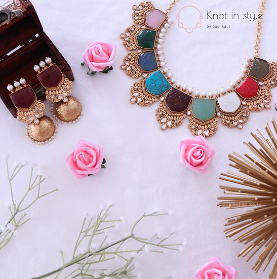 Royal kundan necklace piece