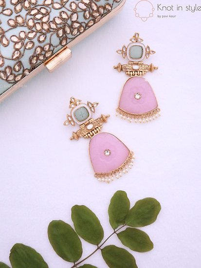 Kundan earrings set (overszied)