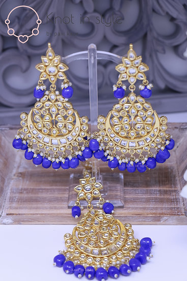 Kundan earrings/tikka set (OVERSIZE)
